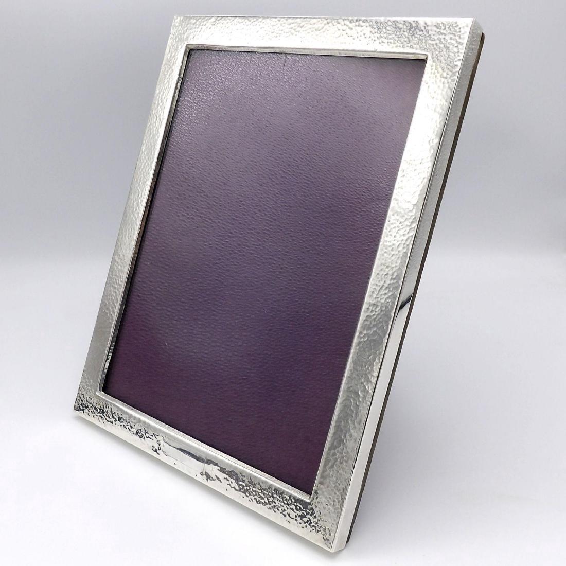 Vintage Arts & Crafts Hammered Sterling Silver Frame - 3