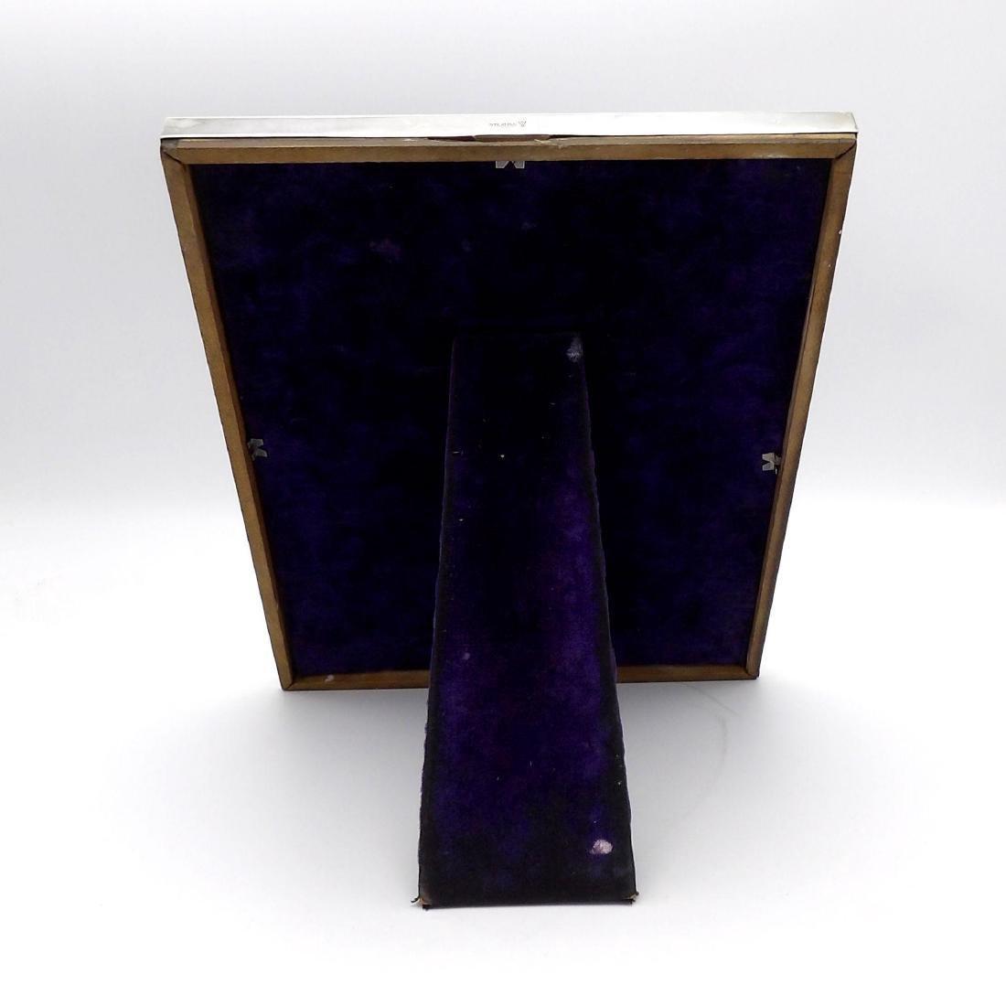 Vintage Arts & Crafts Hammered Sterling Silver Frame - 4