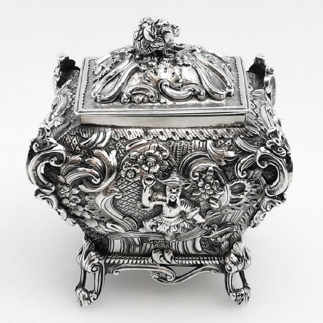 Antique Scottish Georgian Sterling Tea Caddy Box, 1823