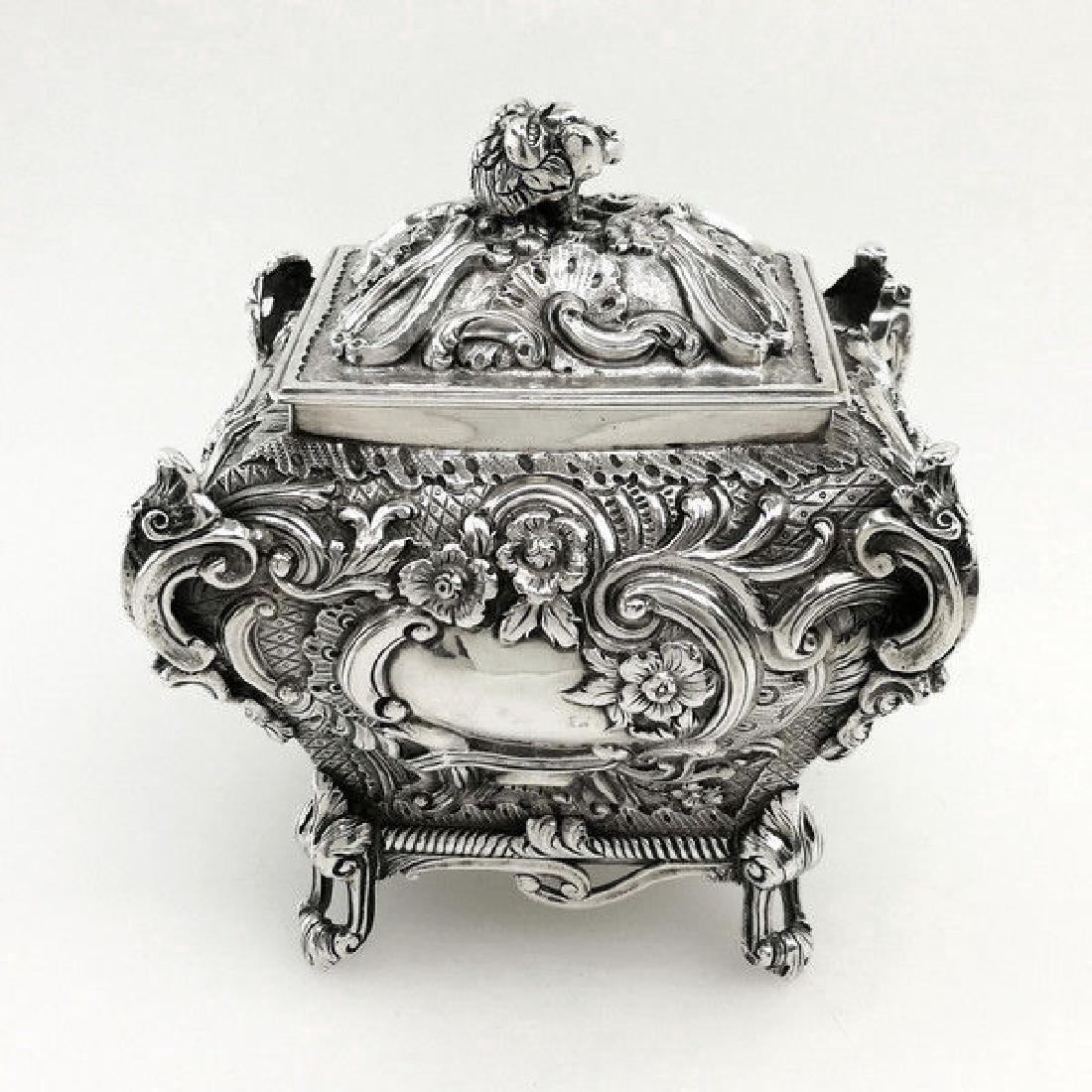Antique Scottish Georgian Sterling Tea Caddy Box, 1823 - 2
