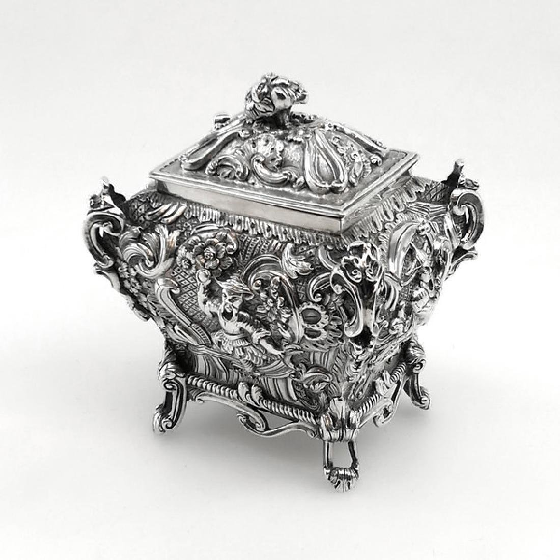 Antique Scottish Georgian Sterling Tea Caddy Box, 1823 - 3