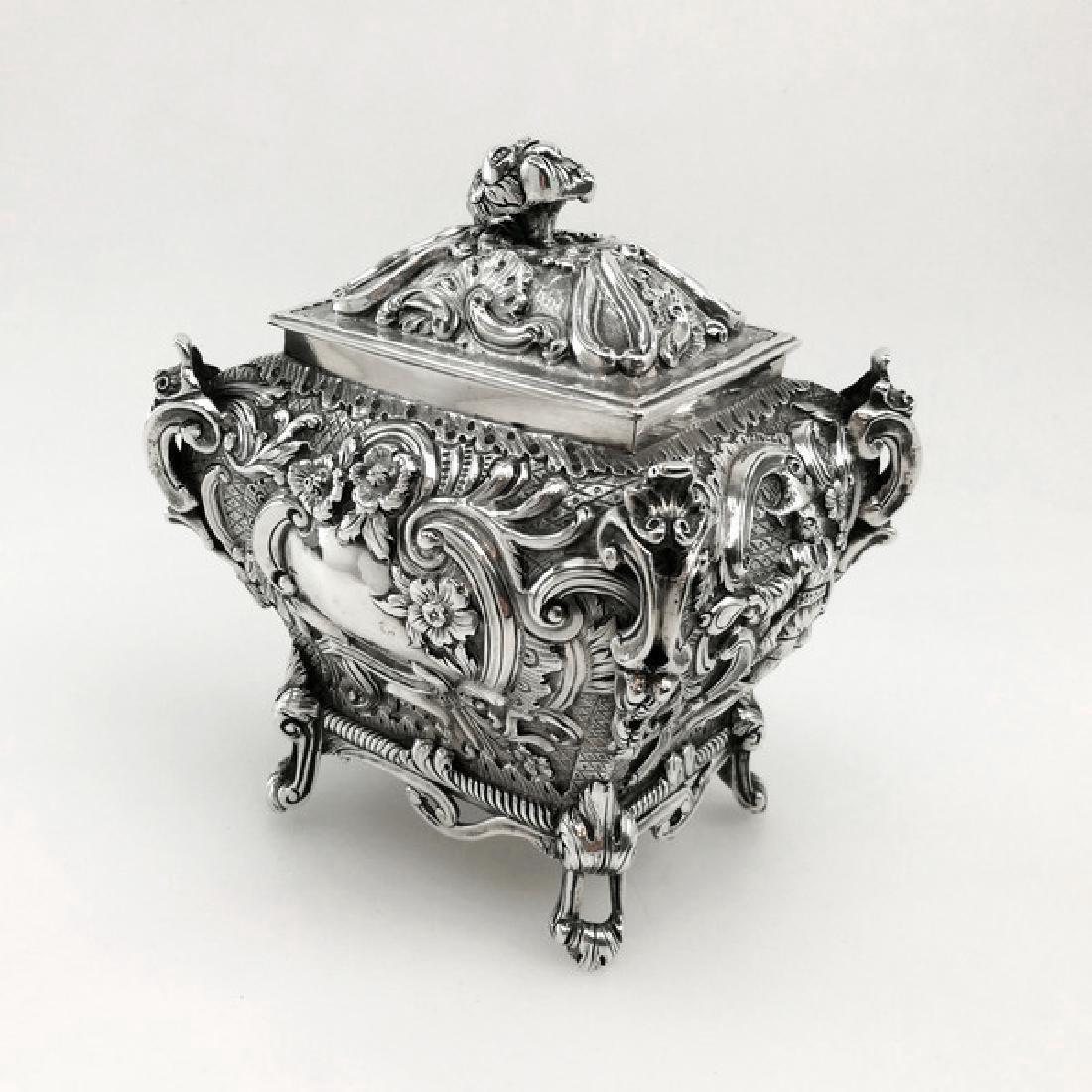 Antique Scottish Georgian Sterling Tea Caddy Box, 1823 - 4