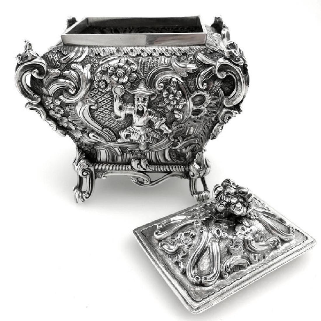 Antique Scottish Georgian Sterling Tea Caddy Box, 1823 - 7