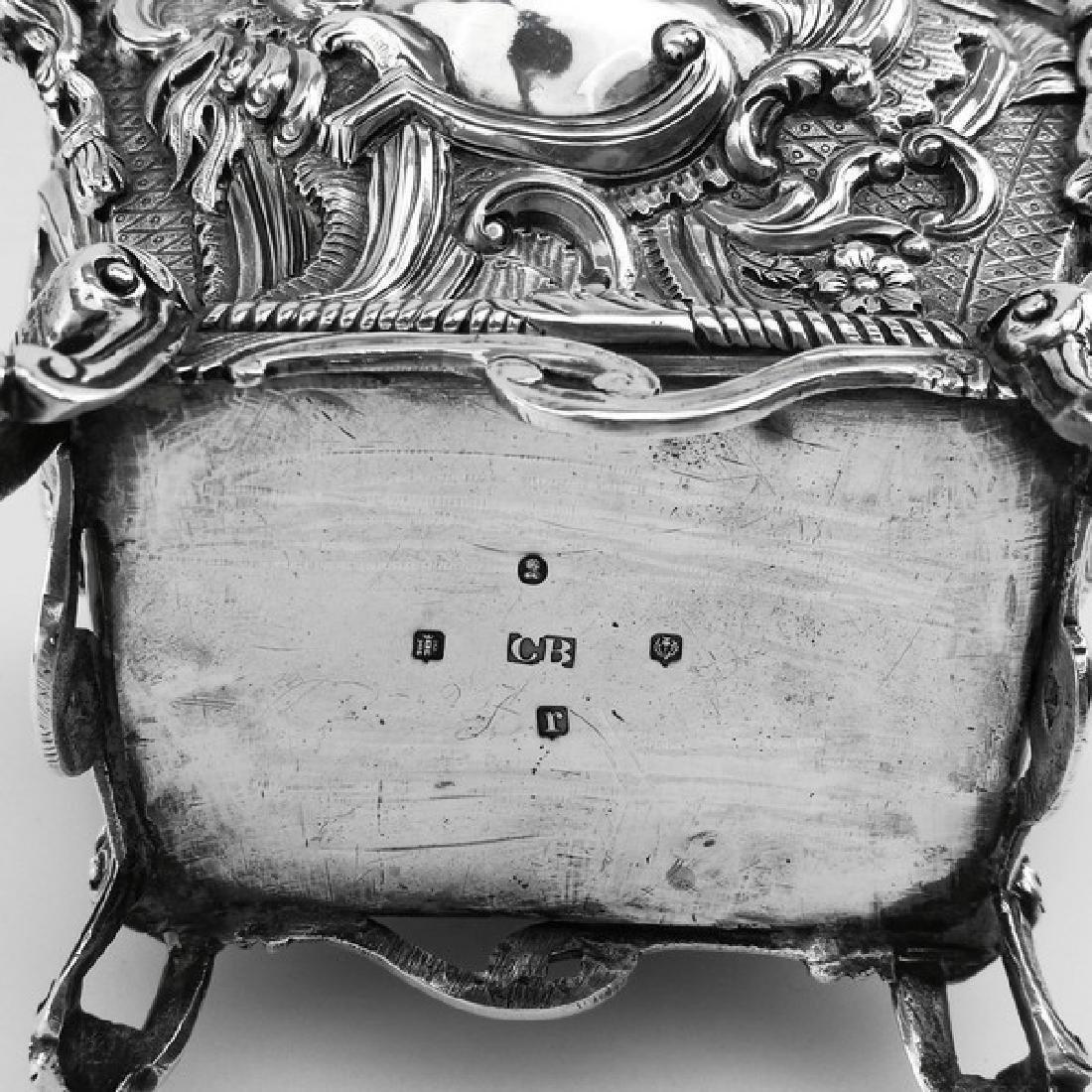 Antique Scottish Georgian Sterling Tea Caddy Box, 1823 - 8