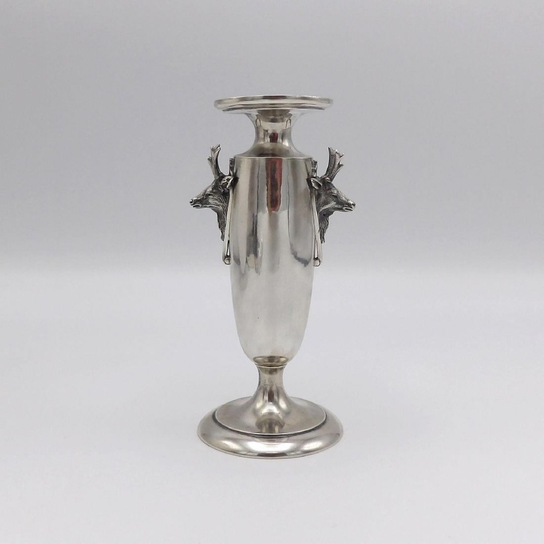 Antique Gorham Saxon Stag Sterling Silver Bud Vase 1860