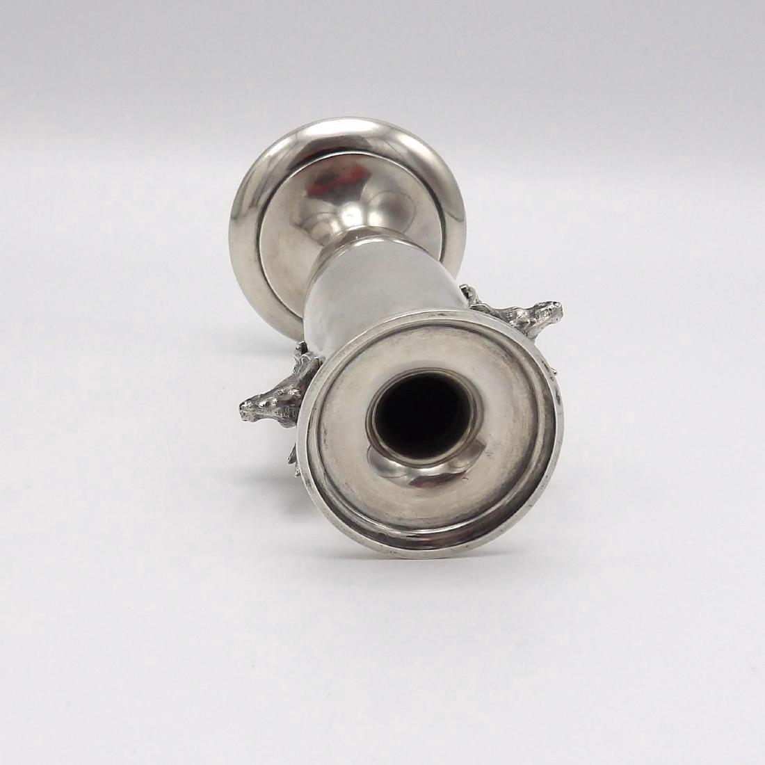 Antique Gorham Saxon Stag Sterling Silver Bud Vase 1860 - 6
