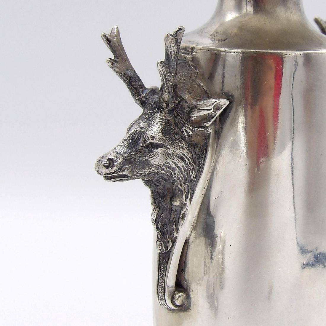 Antique Gorham Saxon Stag Sterling Silver Bud Vase 1860 - 7