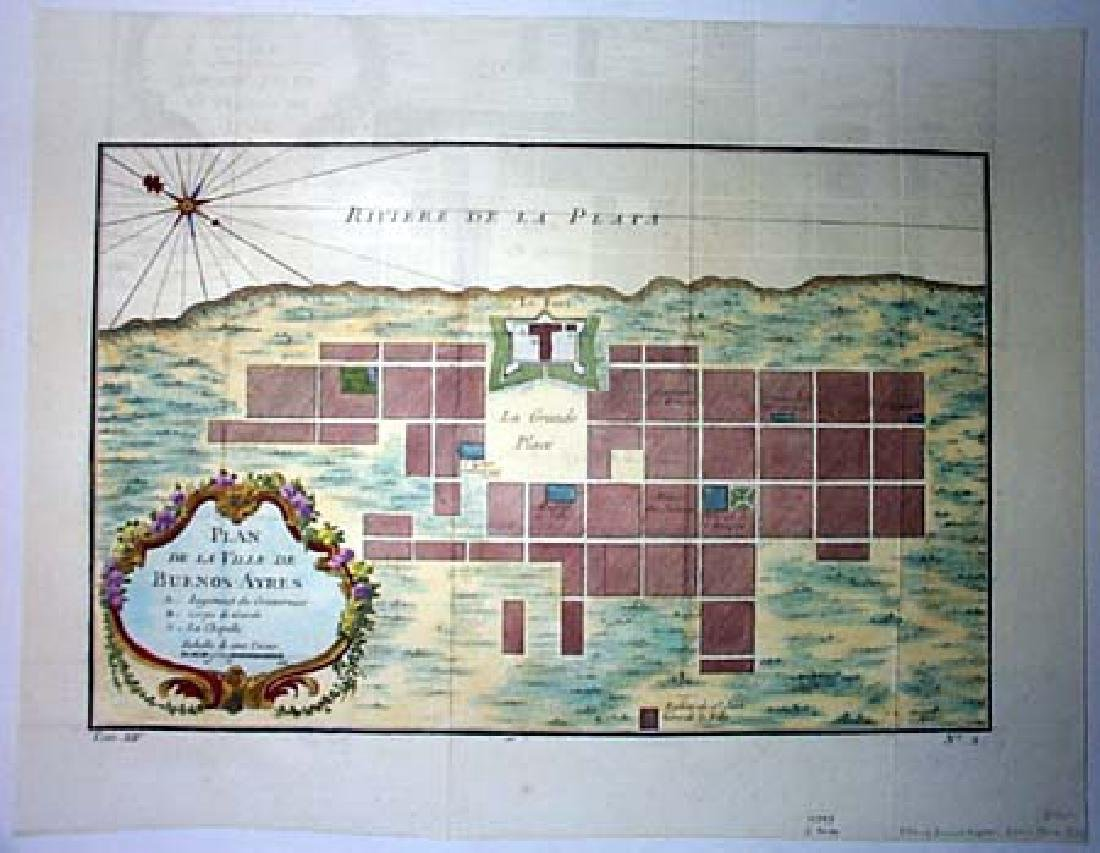 Bellin: Antique Plan of Buenos Aires, 1758 - 2