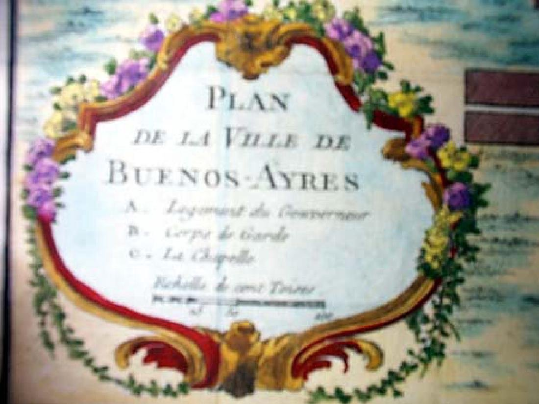 Bellin: Antique Plan of Buenos Aires, 1758 - 3