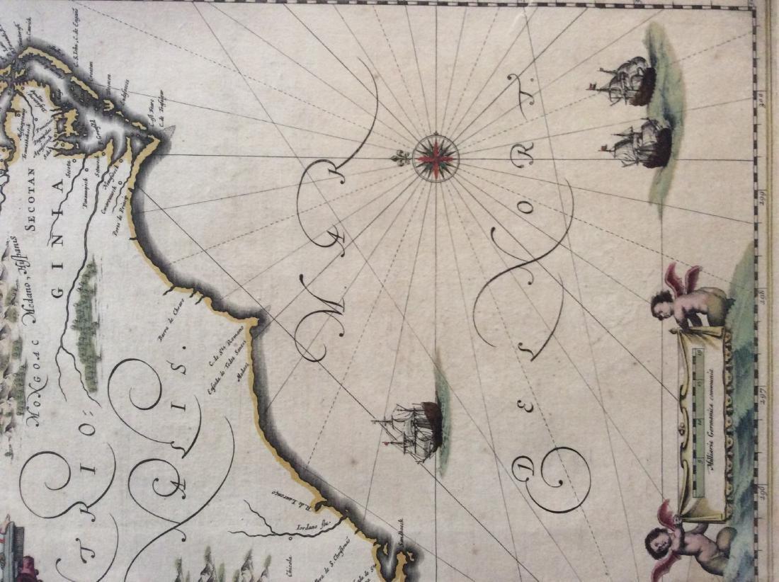Janssonius: Antique Map of Virginia to Florida, 1639 - 4