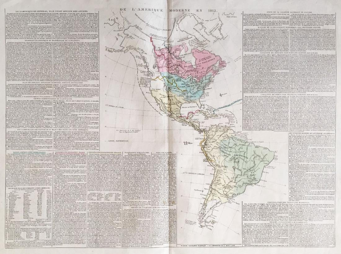Buchon / Carez: Map of the Modern Americas in 1812