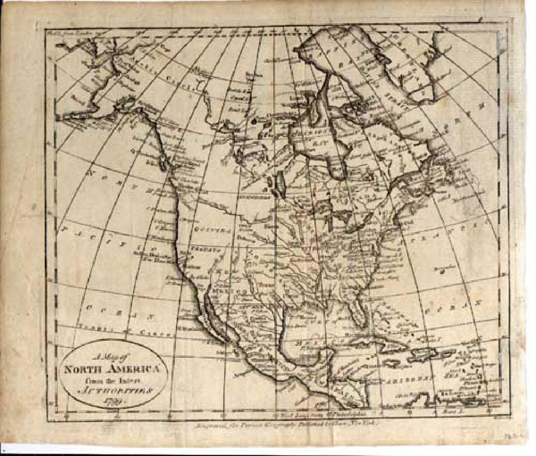 Scholes: Antique Map of North America, 1799 - 2