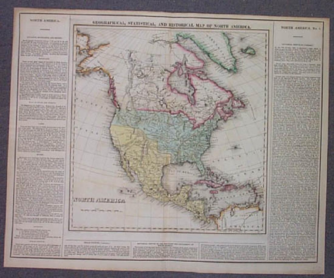 Carey & Lea: Antique Map of North America, 1822 - 2