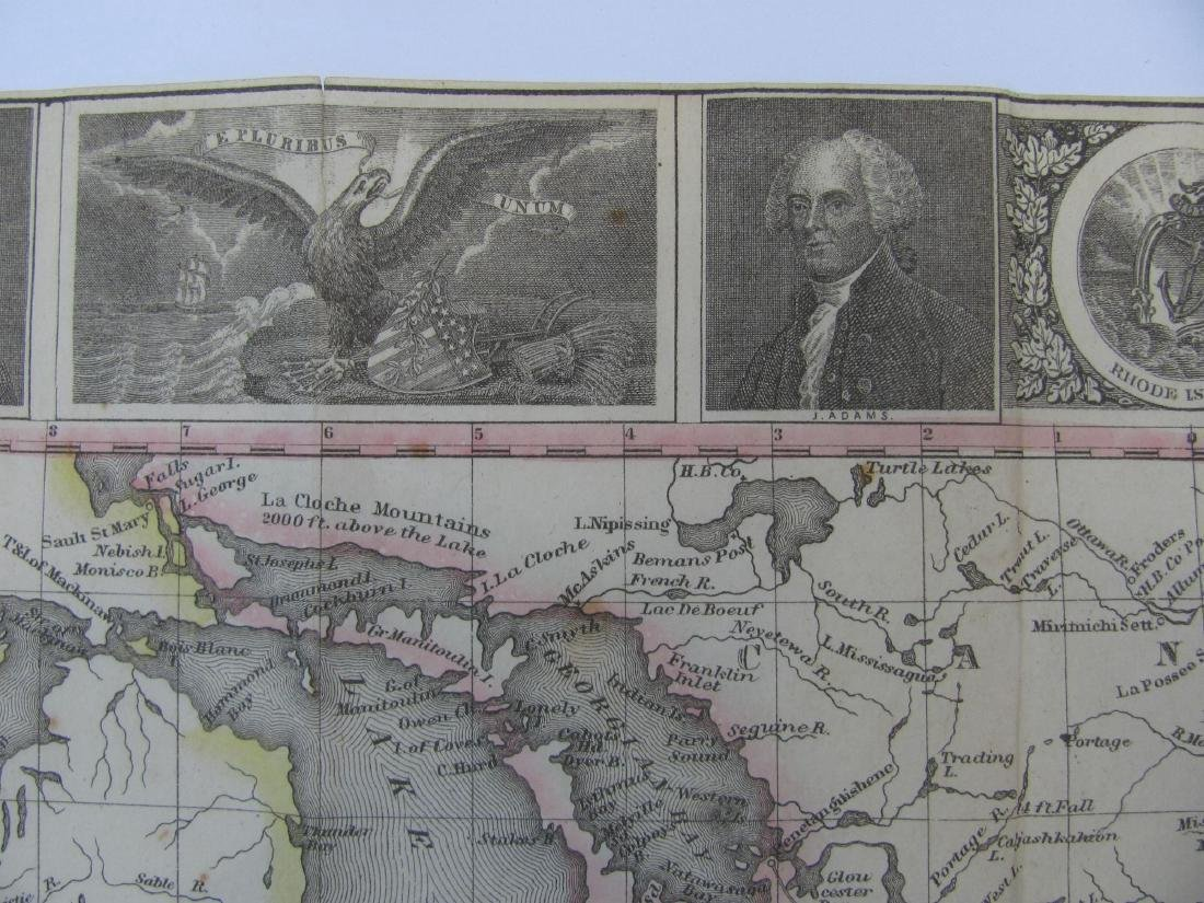 Phelps: Antique Pre-Civil War Map of United States 1848 - 5