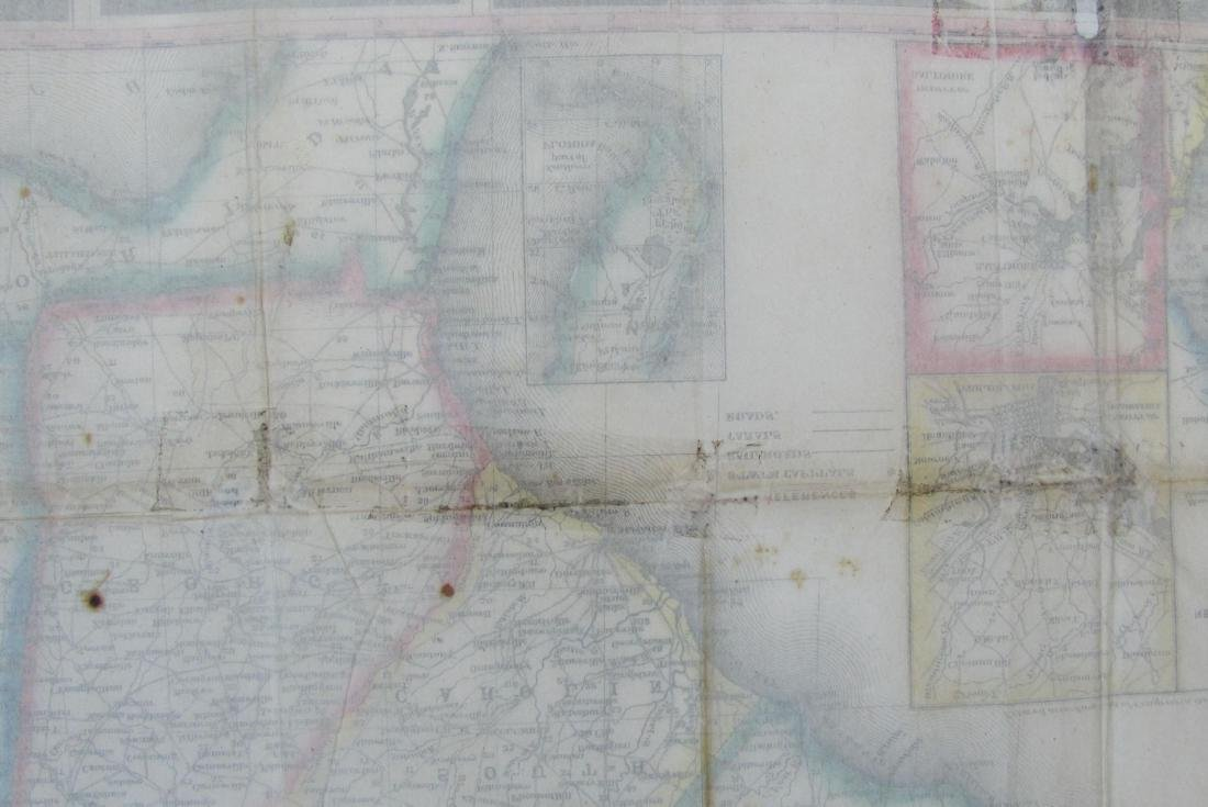 Phelps: Antique Pre-Civil War Map of United States 1848 - 8