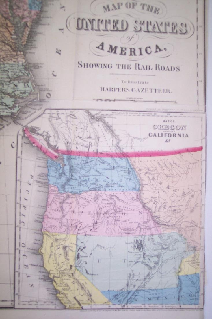 Smith: Antique Railroad Map of the United States, 1855 - 3