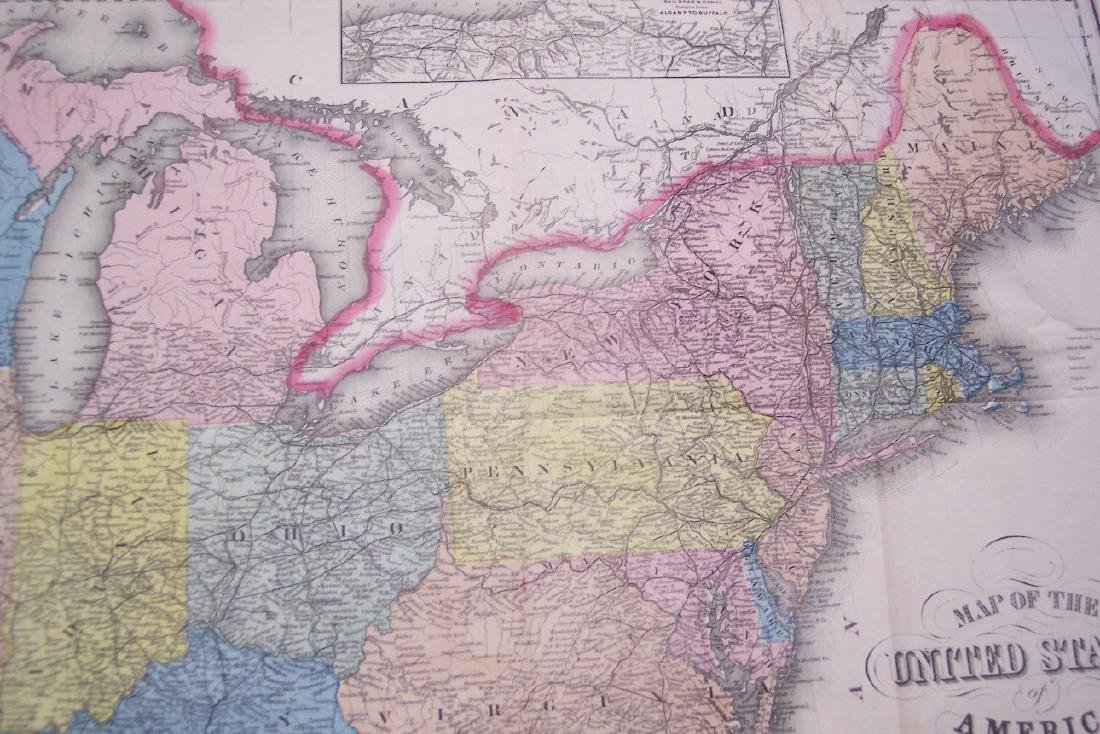 Smith: Antique Railroad Map of the United States, 1855 - 5