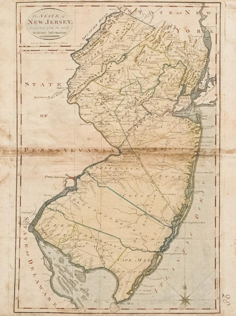 Carey: Antique Map of New Jersey, 1814