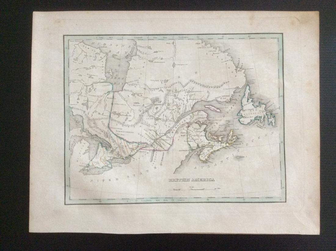 Bradford: Antique Map of British Canada, 1835