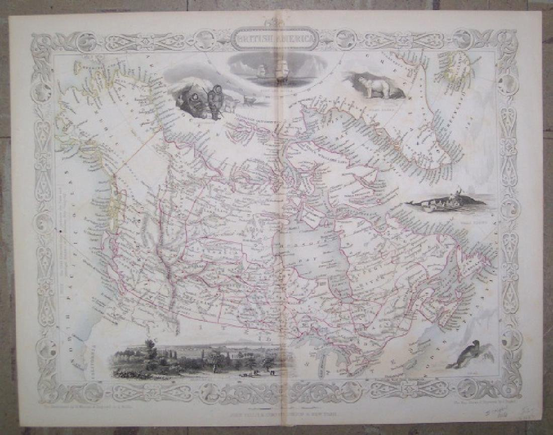 Tallis: Antique Map of British America, 1850 - 2