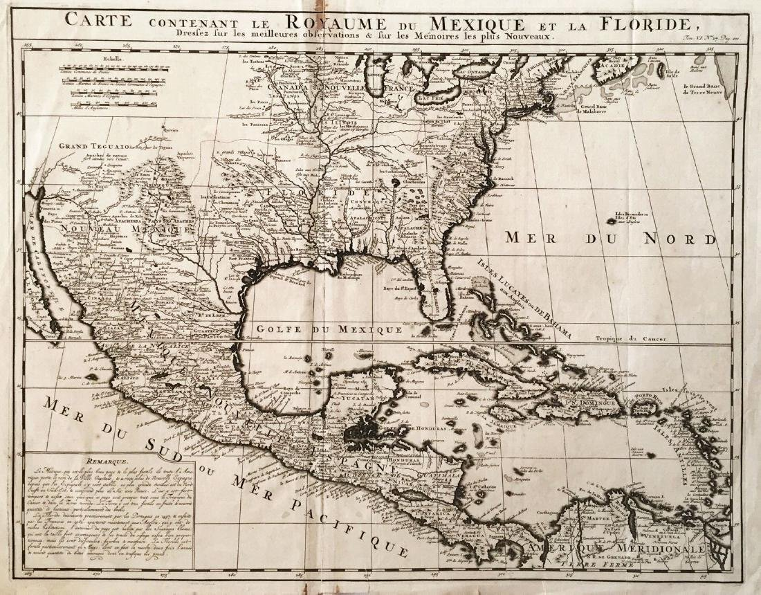 Chatelain: Antique Map of Mexico & Florida, 1719