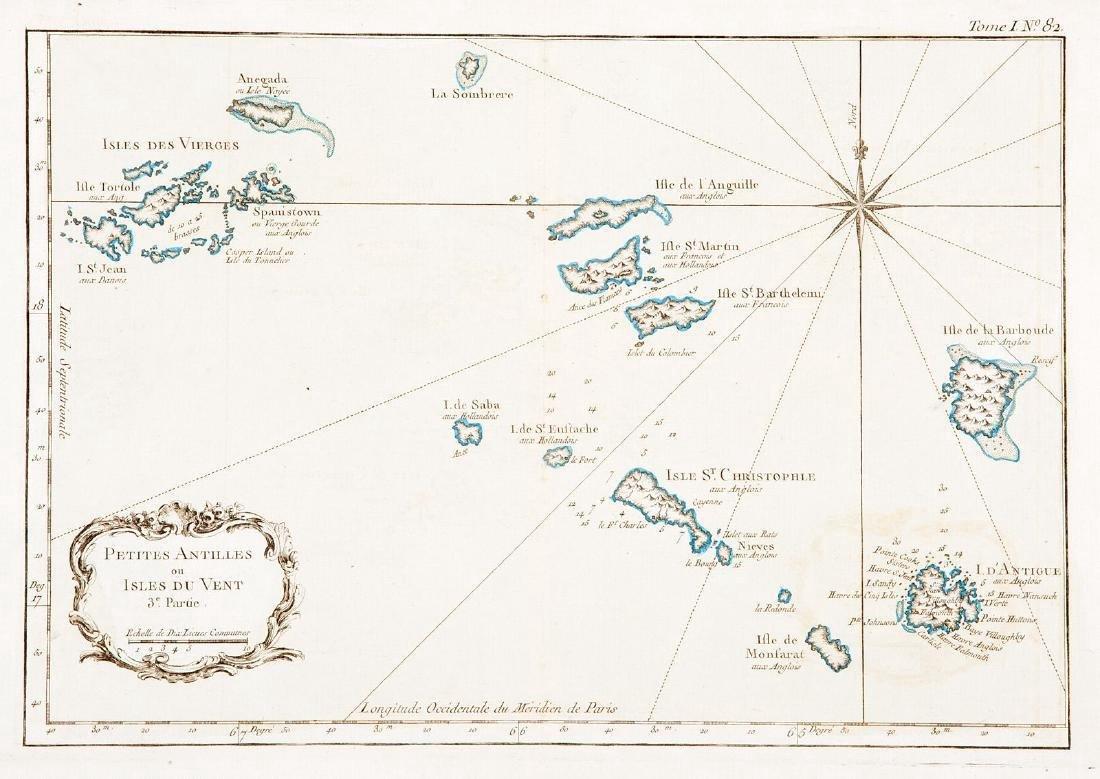 Bellin: Antique Map of the Virgin Islands, 1764