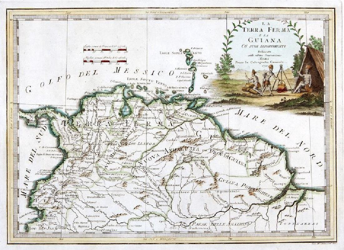 Cassini: Antique Map of Northern South America, 1798
