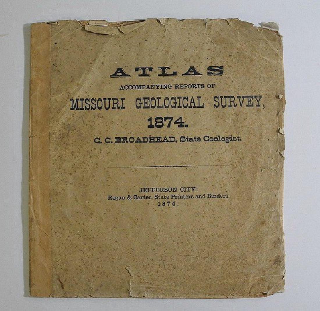 Antique Missouri County Atlas, 1874