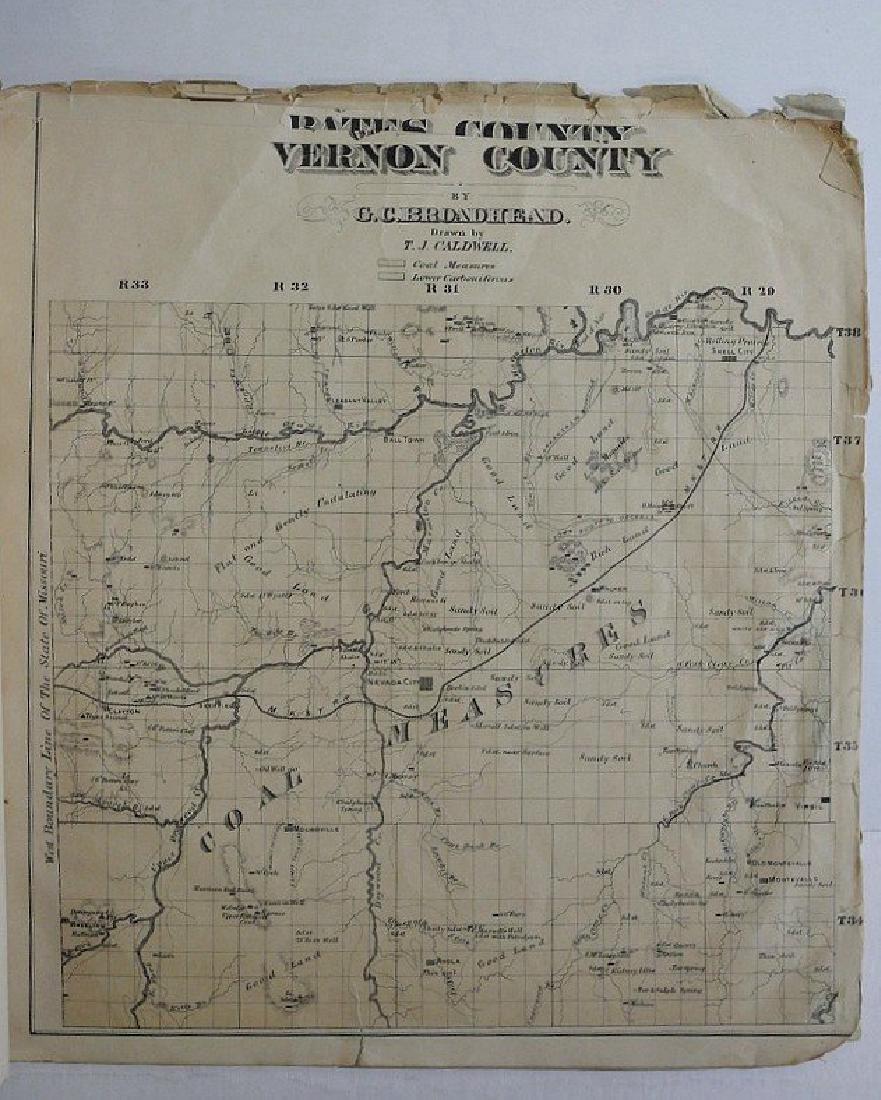 Antique Missouri County Atlas, 1874 - 5