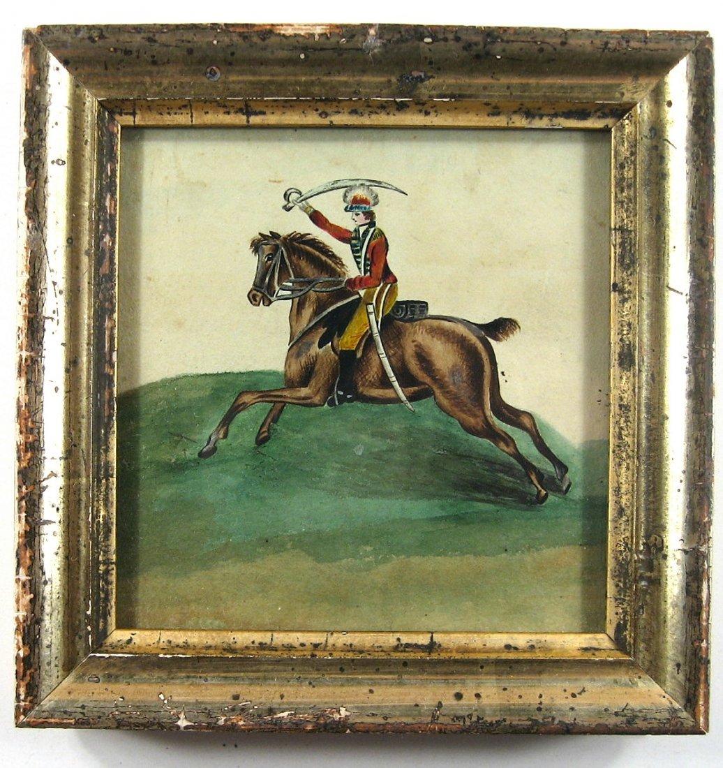 Antique Calvary Officer on Horseback 1830