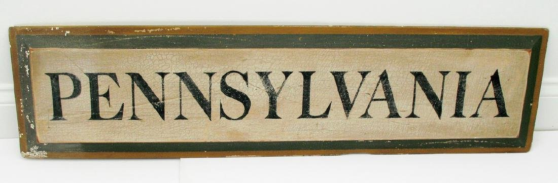 Pennsylvania Sign 1960's
