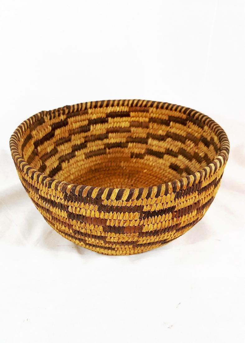 Pima Woven Geometric Pattern Basket Circa 1930's