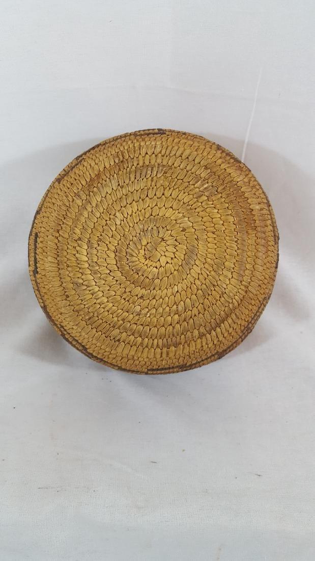 Pima Woven Geometric Pattern Basket Circa 1930's - 3