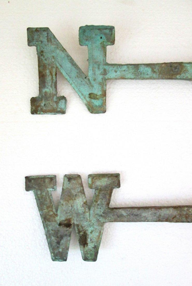 Vintage Brass Weathervane Directionals Mid 20th Century - 3