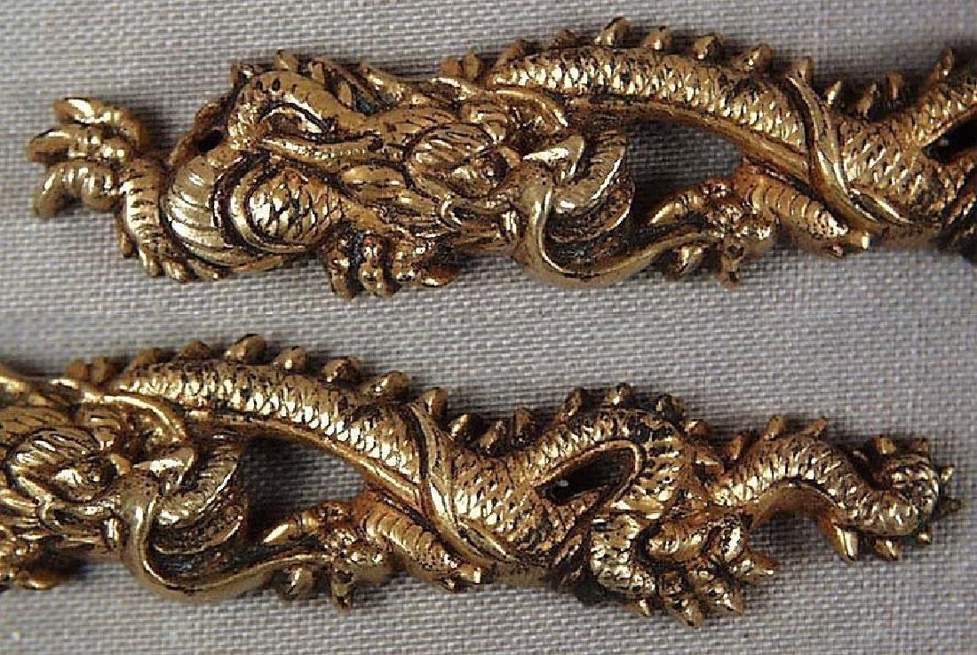 Pair of Antique Japanese Dragons Sword Menuki, 19th C - 2