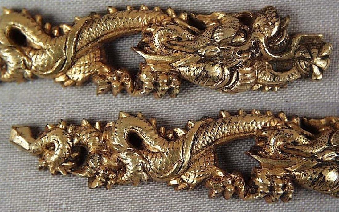 Pair of Antique Japanese Dragons Sword Menuki, 19th C - 3
