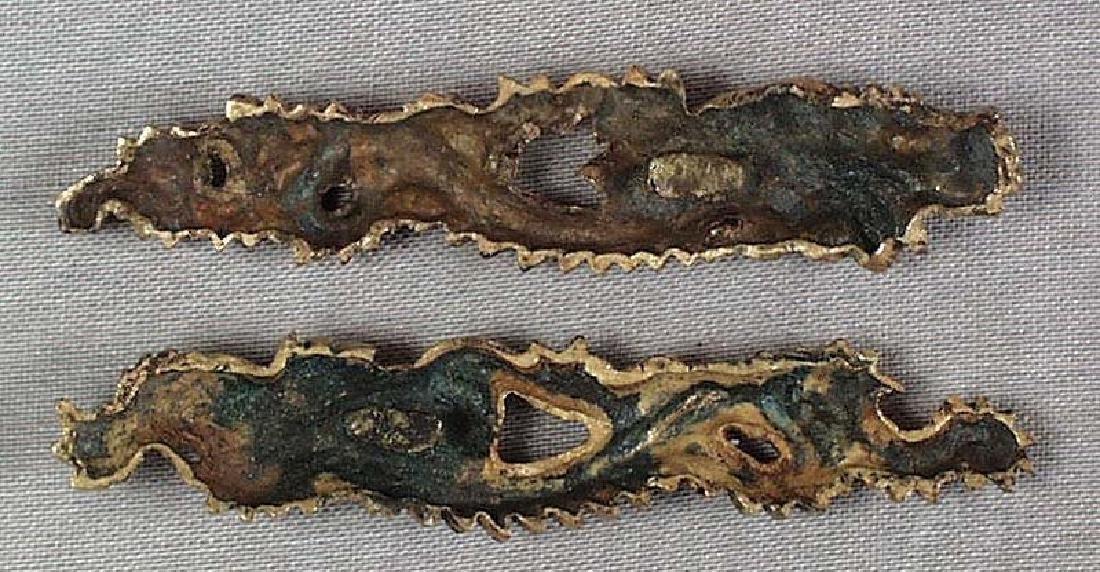 Pair of Antique Japanese Dragons Sword Menuki, 19th C - 4