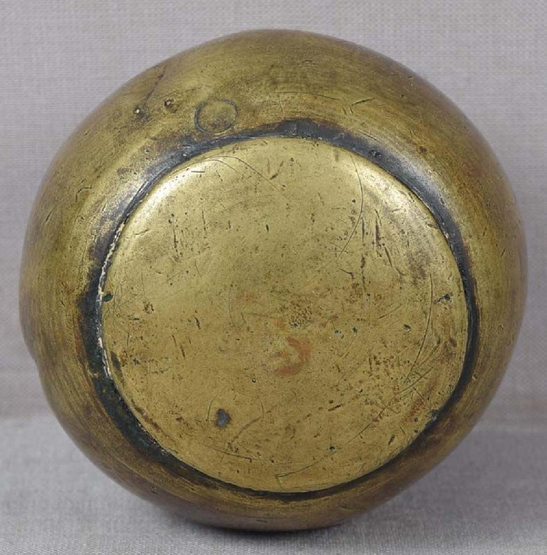 Antique Japanese Bronze Scholar's Daruma Scroll Weight - 6
