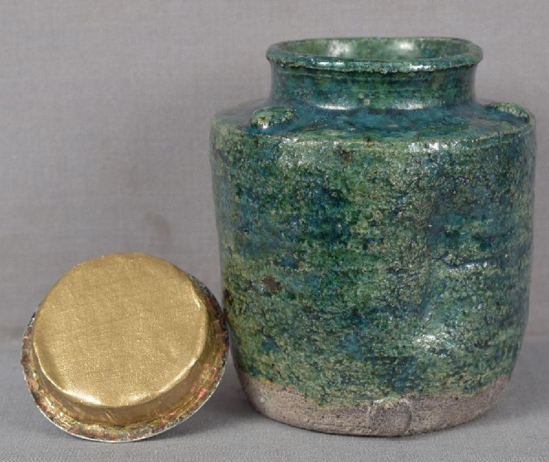 Antique Japanese Tea Ceremony Oribe Chaire Tea Caddy - 3