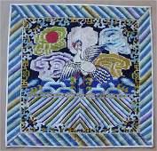 Antique Chinese Textile 5th Rank Badge Mandarin Square