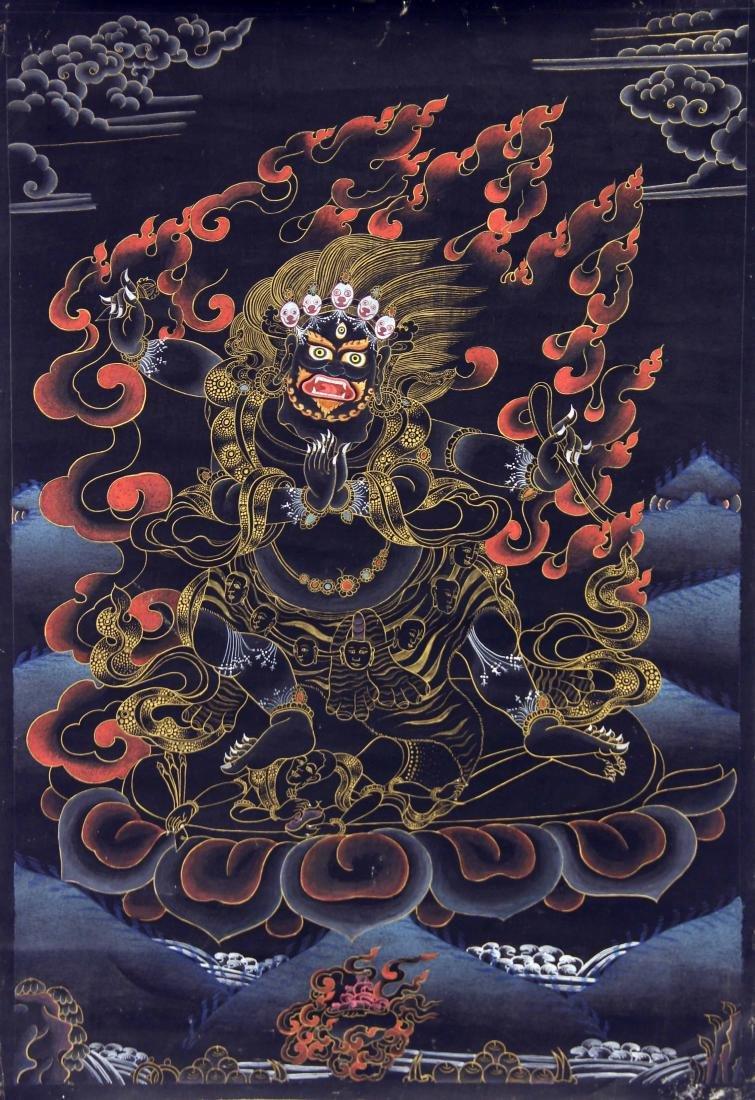 Nepalese Mahakala Thangka Painting
