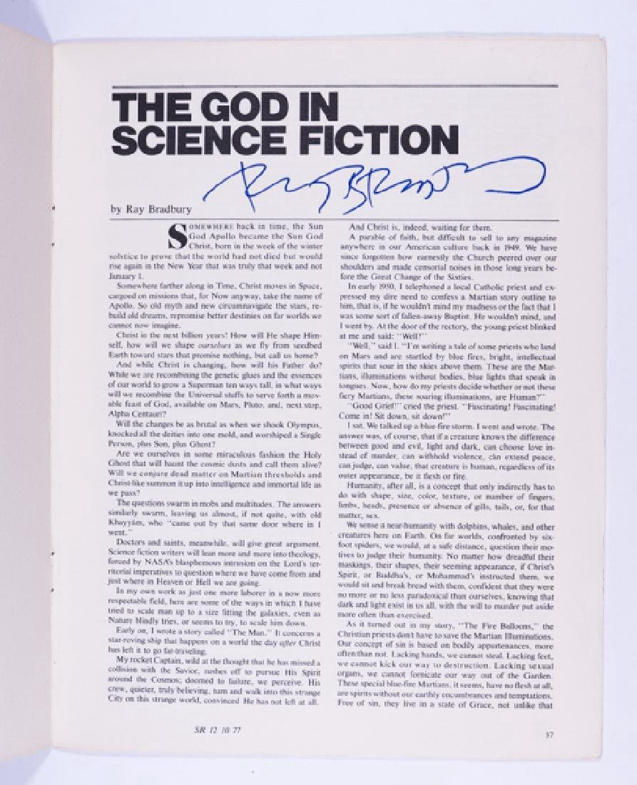 The God in Science Fiction - Signed by Ray Bradbury - 2