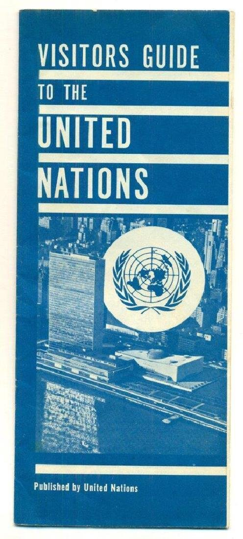1960 Visitor Guide United Nations Promotional Pamphlet