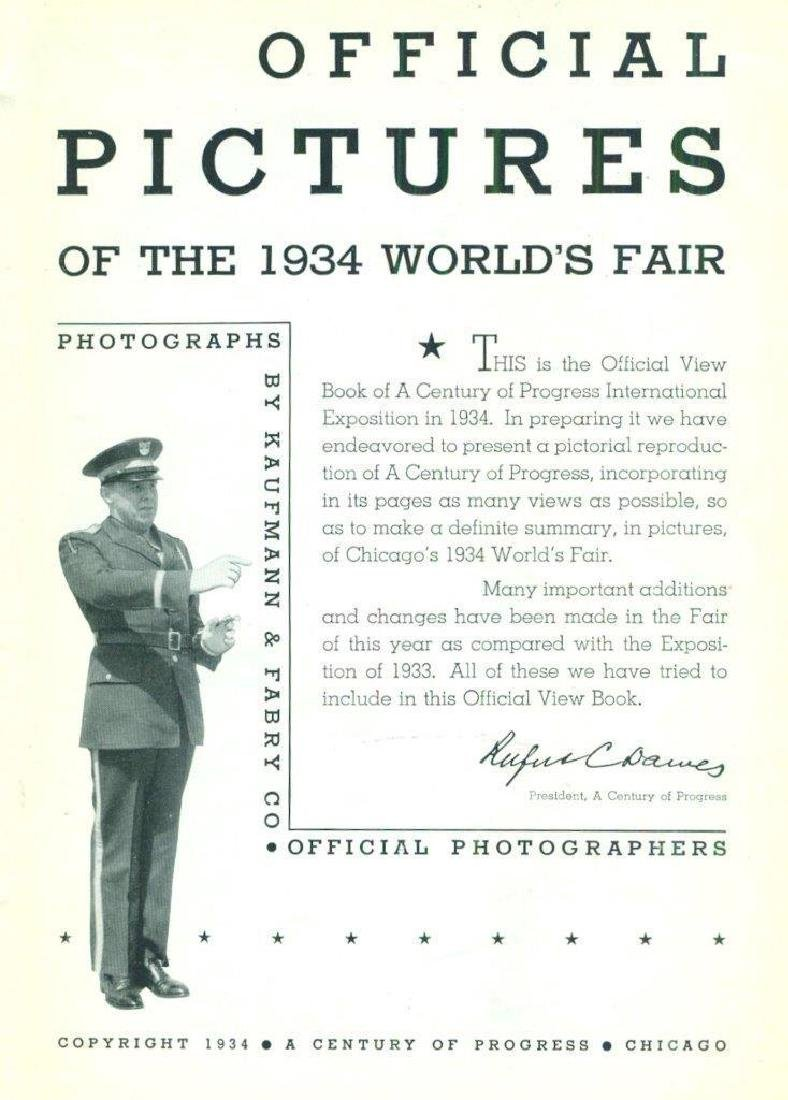 Official Pictures 1934 World Fair Chicago Kaufmann - 2