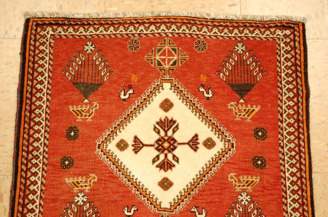 Vintage Persian Shiraz Qashkai Rug 2x2 - 3