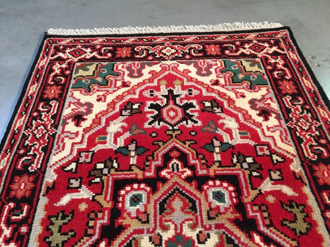 "Hand-knotted ""Serapi"" Wool Runner Rug 2.11x5 - 4"