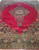 Persian Kashan Cranberry Red Oriental Rug 11x13