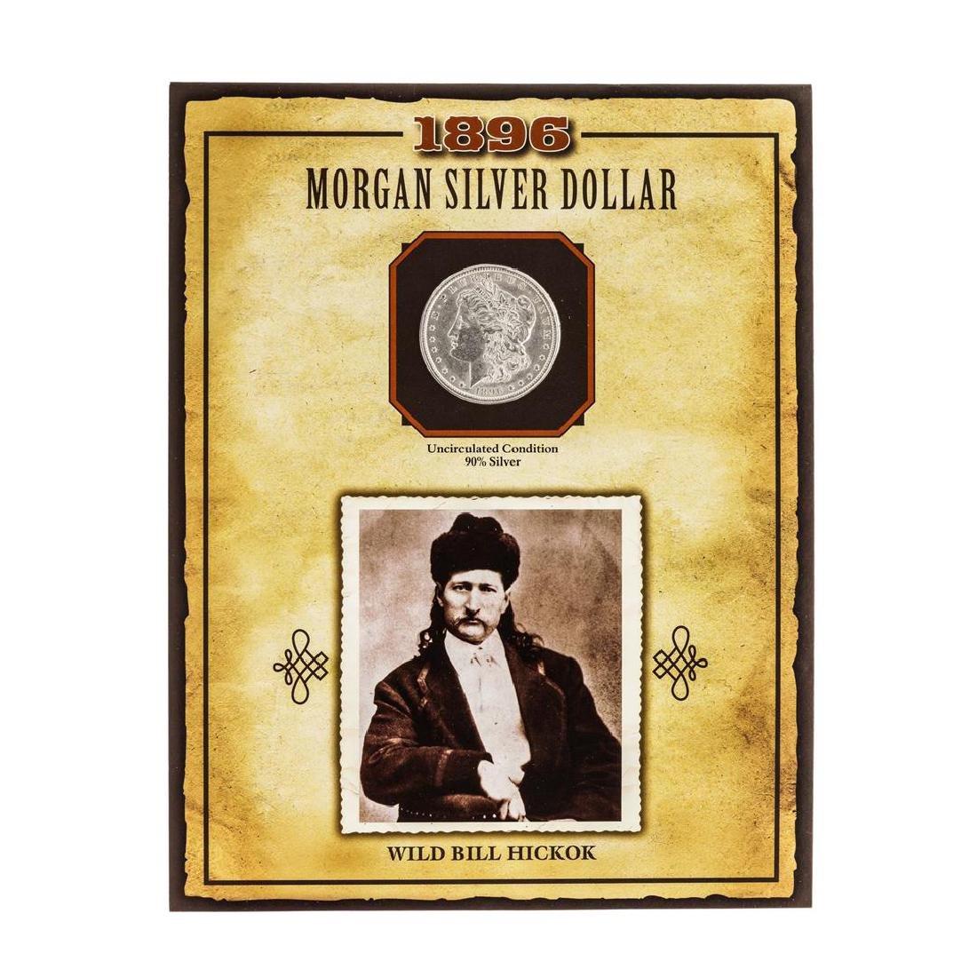 1896 $1 Morgan Silver Dollar Coin with Wild Bill Hickok