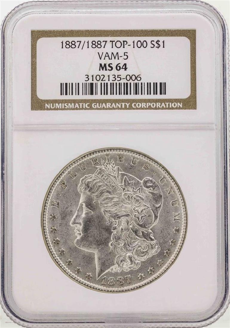 1887/1887 $1 Morgan Silver Dollar Coin Top-100 VAM-5