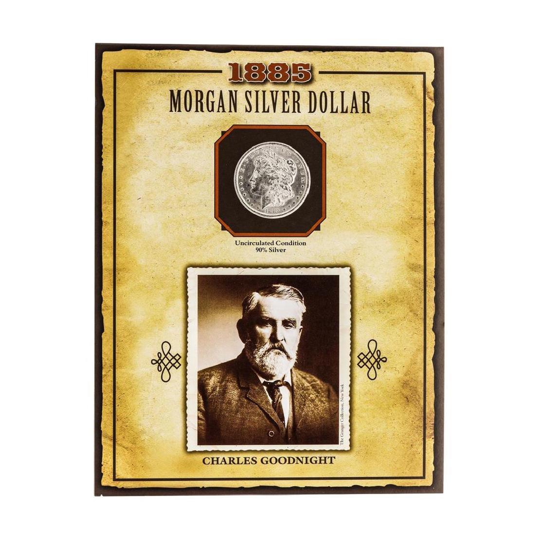 1885-O $1 Morgan Silver Dollar Coin with Charles